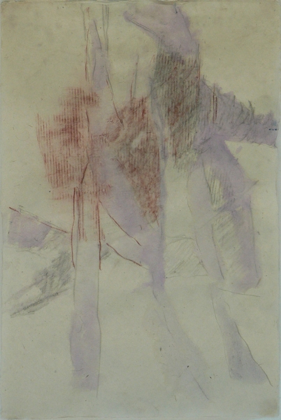 drawing-13-gouache-red-black-conte-crayon-on-lokta-paper-30x20-2011