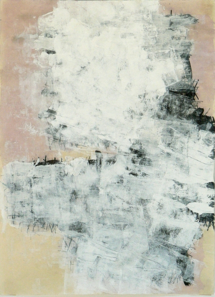 Untitled Mixed Media Drawing on Rice Paper 25x18 - 2011