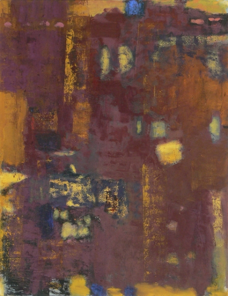 Looking out Series Violet Yellow Rust Oil on Canvas-2011-36x28